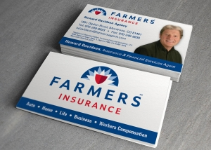 Farmers Insurance Business Card Design by Treefeather Creative