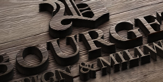 Logo design for custom woodwork company