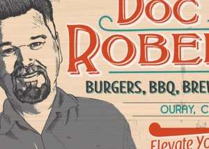 Doc Roberts vintage style sign