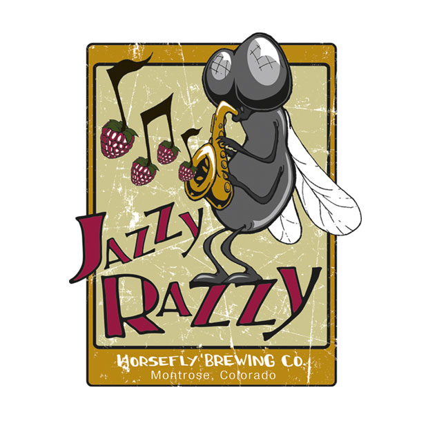 Horsefly Brewing Co. Jazzy Razzy Logo