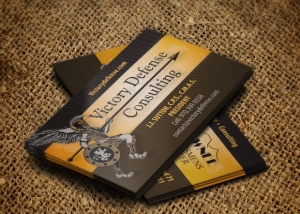 Victory Defense Consulting Business Card Design