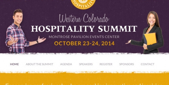 Western Colorado Hospitality Summit design by Treefeather Creative