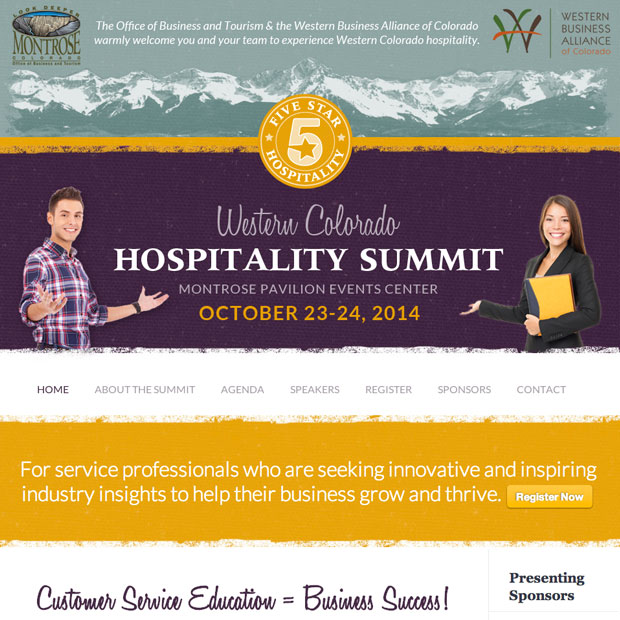 Western Colorado Hospitality Summit design by Treefeather Creative