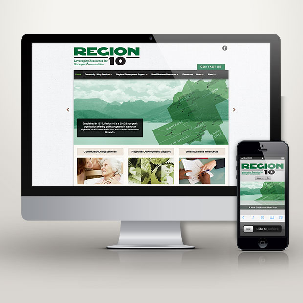 Region 10 website design