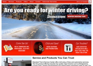 Standard Tire & Service Center website design by Treefeather Creative