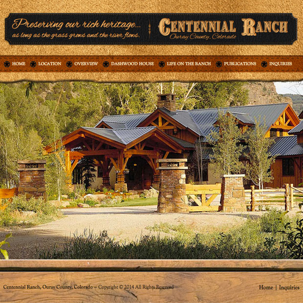 Centennial Ranch web design by Treefeather Creative
