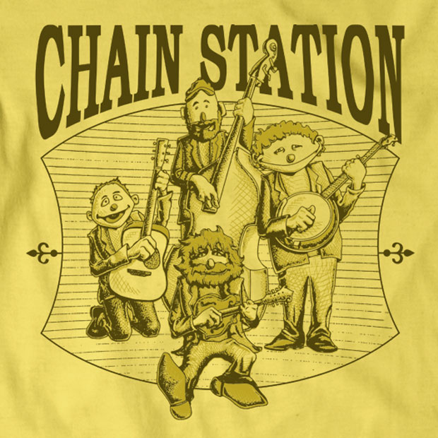 Chain Station Mountain Music t-shirt design by Treefeather Creative