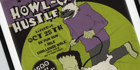chow-down-howl-o-ween-hustle-poster-design