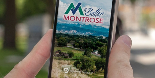 a Better Montrose app logo design by Treefeather Creative