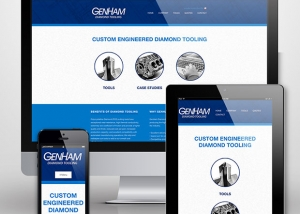 GenHam Diamond Tooling website design by Treefeather Creative