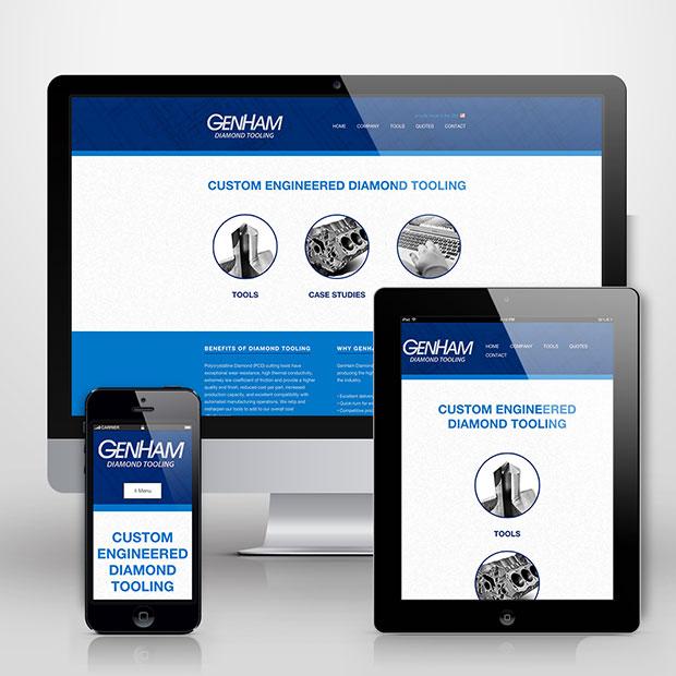 GenHam Diamond Tooling website design by Treefeather Creative