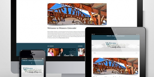 Welcome Western Colorado website design by Treefeather Creative