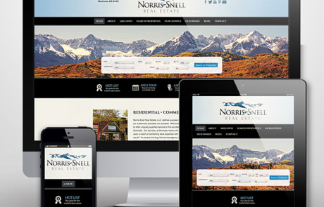 Norris-Snell Real Estate website design by Treefeather Creative
